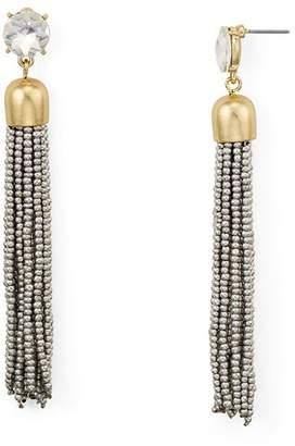 Aqua Metallic-Finish Tassel Drop Earrings - 100% Exclusive
