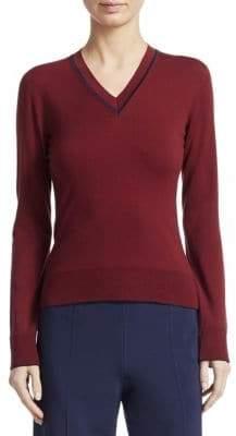 Piazza Sempione Stretch Wool V-Neck Pullover