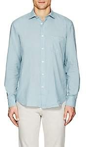 Hartford Men's Cotton Voile Sport Shirt-Lt. Green