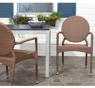 Safavieh Valdez Wicker Indoor-Outdoor Stacking Side Chair, Set of 2