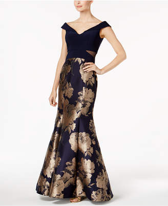Xscape Evenings Printed Mermaid Gown