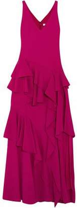 Halston Tiered Ruffled Cady Gown