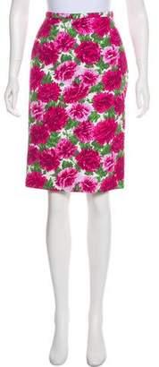 Michael Kors Floral Knee-Length Skirt