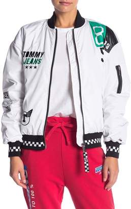 Tommy Jeans Oversized Racing Bomber Jacket