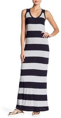 Kersh & Press Striped Scoop Neck Maxi Dress