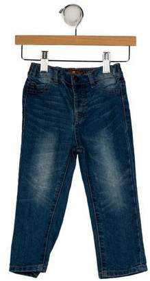 7 For All Mankind Boys' Three Pockets Straight-Leg Jeans
