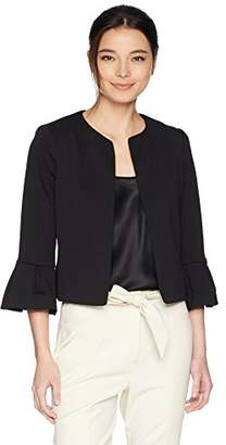 Calvin Klein Women's Petite Open Jacket with Bell Cuff