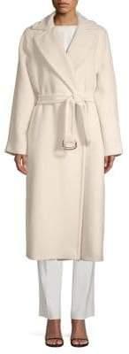 Max Mara Levico Beaver Belted Wrap Coat