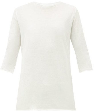 Raey Half Sleeve Cotton T Shirt - Womens - White