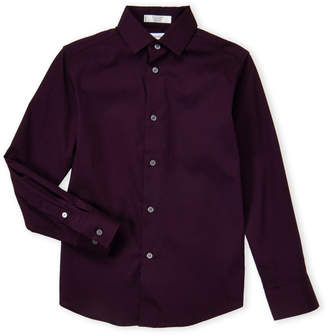 Calvin Klein Boys 8-20) Dark Purple Ribbed Dress Shirt