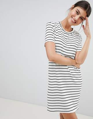 PrettyLittleThing basic stripe t-shirt dress