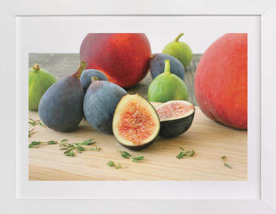 Figs and Peaches Art Print