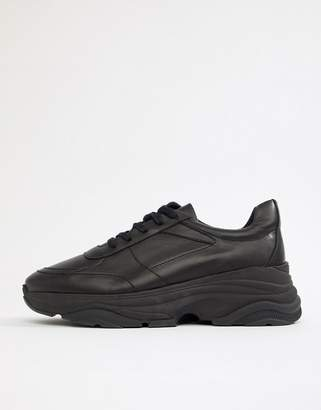 Asos Design DESIGN sneakers in black with chunky sole