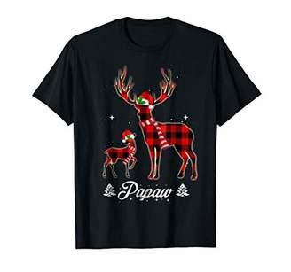 Papaw Reindeer Plaid Pajama Shirt Matching Family Christmas