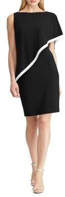 Lauren Ralph Lauren Overlay Jersey Sheath Dress