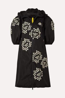 Simone Rocha Moncler Genius - 4 Hooded Ruffled Appliquéd Shell Jacket - Black