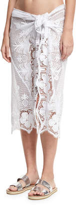 Miguelina Layna Crochet Pareo Coverup, One Size