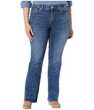 Silver Jeans Co. Plus Size Avery High-Rise Curvy Fit Slim Boot Jeans in Indigo W94627SDK332