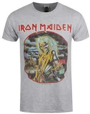 Iron Maiden Killers Circle Heather Grey Mens T-Shirt XL