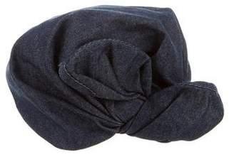 Colette Malouf Denim Tie Turban