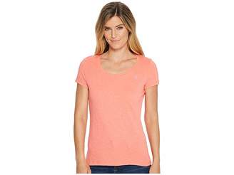 U.S. Polo Assn. Scoop Neck Solid T-Shirt Women's Short Sleeve Pullover
