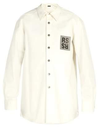 Raf Simons Logo Patch Denim Shirt - Mens - White