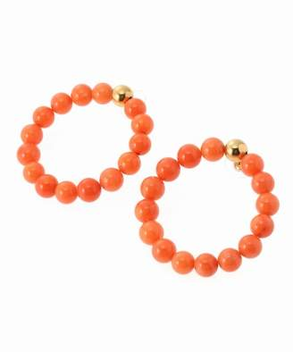 Journal Standard (ジャーナル スタンダード) - JOURNAL STANDARD 【Mirit Weinstock/ミリットウェインストック】Coral beads hoops Big:ピアス