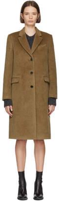 Jil Sander Navy Brown Wool and Mohair Overcoat