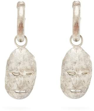 Ellery Morisco Sterling Silver Face Earrings - Womens - Silver Gold