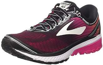Brooks Women's Ghost 10 D Running Shoe (BRK-120246 1D 38872C0 11.5 067 BLACK/PINK/CORAL)