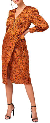 Girls On Film Clement Rust Animal-Print Button Through Top