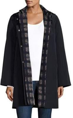 Jane Post 3-in-1 Coat, Plaid Base & Topper