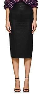 Zac Posen Women's Metallic Fitted Pencil Skirt - Dark Gray