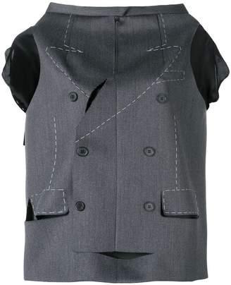 Maison Margiela tailored skirt cape top