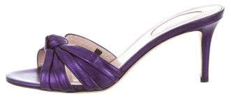 Sarah Jessica Parker Metallic Knot Sandals