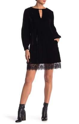Muche et Muchette Marie Jeanne Choker Lace Trim Velvet Dress