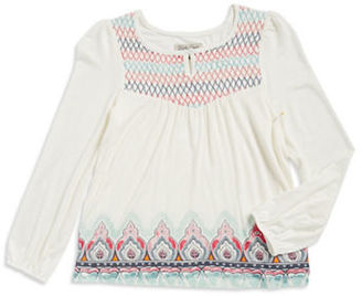 Lucky Brand Girls 7-16 Girl's Egret Long-Sleeve Top $36 thestylecure.com