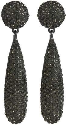 Kenneth Jay Lane Glass crystal pavé teardrop earrings
