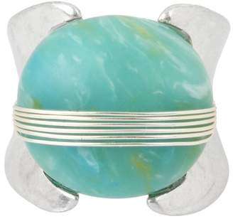Robert Lee Morris Wire Wrapped Green Stone Ring - Size 7.5