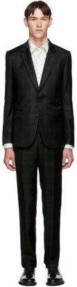 Paul Smith Green and Black Loro Piana Check Suit