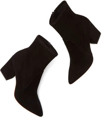 Loeffler Randall Isla Stretch-Suede Ankle Booties