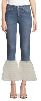 Tulle Frill Flared Jeans