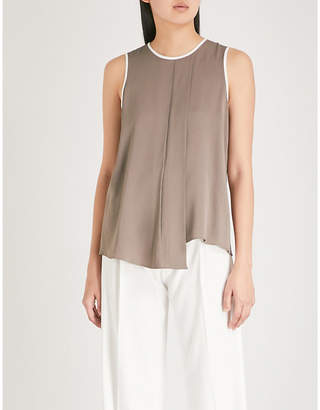 Max Mara Narvel asymmetric silk top