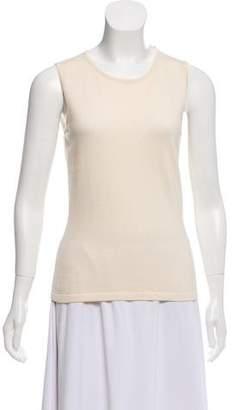 Oscar de la Renta Silk-Cashmere Sleeveless Sweater