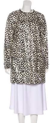 Lanvin Snakeskin Embellished Coat