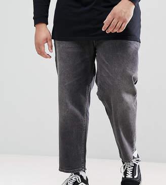 Asos DESIGN PLUS Skater Jeans In Vintage Washed Black