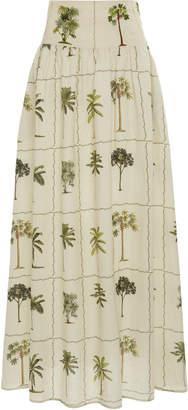 Agua Bendita Agua by Tropic Painted Linen Maxi Skirt