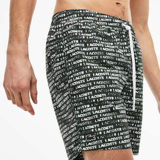 Lacoste Men's Flowing Print Swimming Trunks