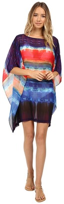 Jantzen - Tequila Sunrise Caftan Cover-Up Women's Swimwear $84 thestylecure.com