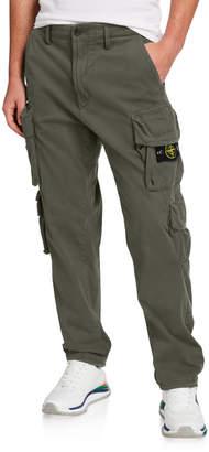 Stone Island Men's Stretch-Cotton Cargo Pants